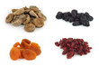 Dried fruits isolated on white backround