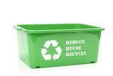 Green disposal container poster