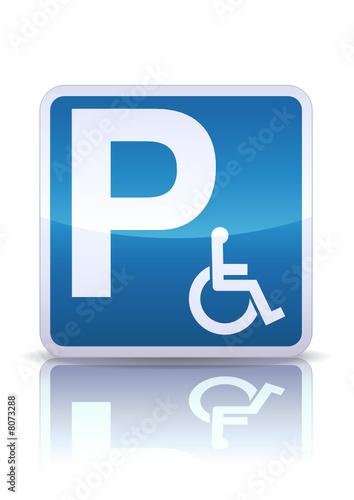 panneau parking handicap reflet m tal fichier vectoriel libre de droits sur la banque d. Black Bedroom Furniture Sets. Home Design Ideas