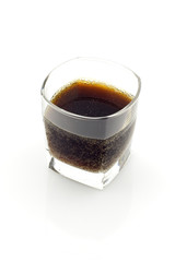 Glass of kvass, isolated