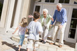 Grandparents welcoming grandchildren
