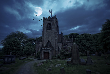 Haunted churchyard