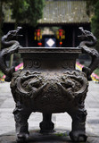 Ornate Iron Incense Pot Wuhou Three Kingdoms Temple Chengdu Sich poster
