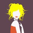 blonde décoiffée buste