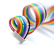 Colorful flat cable