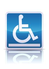 Panneau plate-forme pour handicapés (reflet métal)