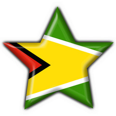 guyana button flag star shape