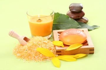 bath salt and glycerine soap
