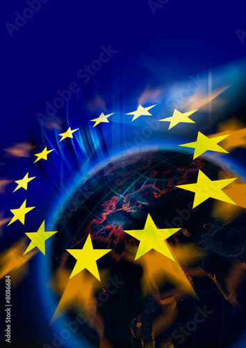 canvas print picture Symbolic illustration of European Union