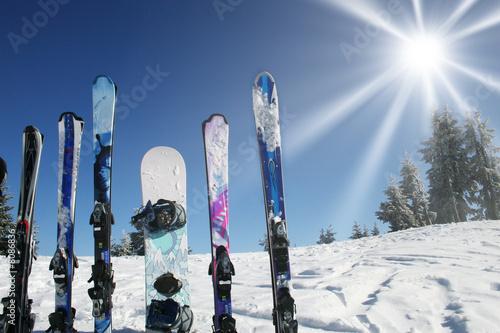 Staande foto Ontspanning ski ciel soleil