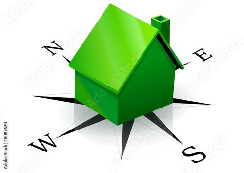 Maison verte et son orientation reflet fichier for Maison et reflet lyon