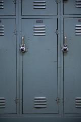 School Locker Green