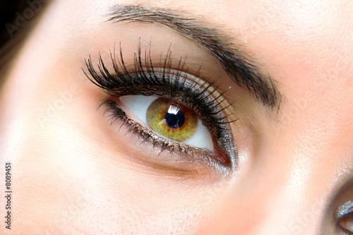 Leinwandbild Motiv The macro female eye