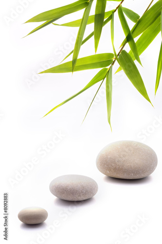 Deurstickers Bamboo zen background