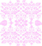 symmetric pink traditional pattern poster