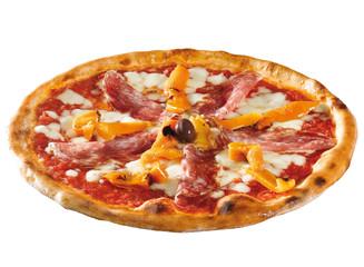 pizza con soppressa e peperoni