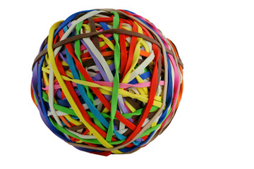 Isolated colored rubberband ball macro