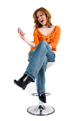 Getting a funny text message