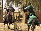 Two Knights Jousting