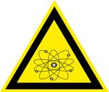Schild Atom poster