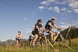 Fototapety Mountainbiker im Chiemgau