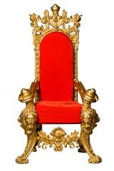 Royalty's Throne. Ornate. On White