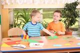 preschoolers and manual skills poster