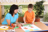 preschooler and manual skills poster