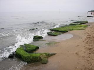 La spiaggia di San Vincenzo dalla costa degli Etruschi