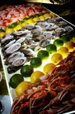 A succulent seafood buffet poster