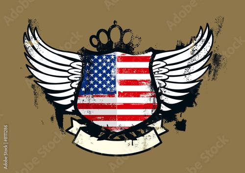 american grunge shield