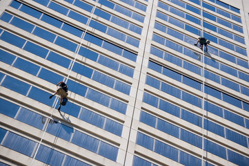 Two windows cleaners
