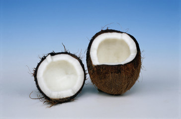 An coconut fruit was cutted into segments