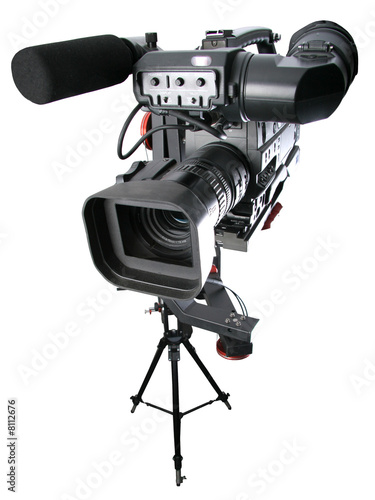 dv-camcorder on crane