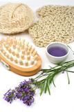 Massage set with lavender