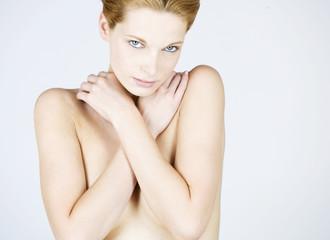 A female nude, portrait