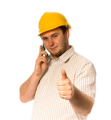 Worker with phone