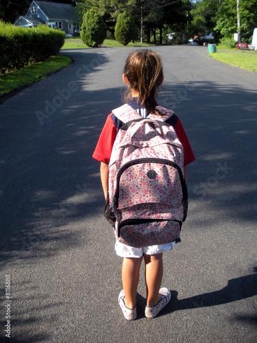 Walking to thte bus stop
