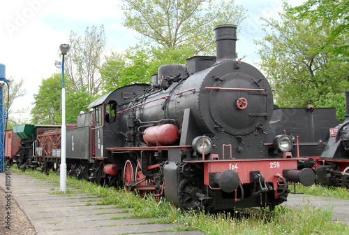 historic steam train in Poland