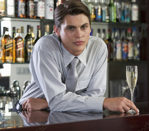 Portrait of a barman