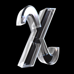 chi symbol in glass (3d)