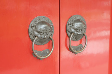 Chinese Red Gates Doors
