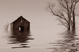 Flooded Iowa farmhouse
