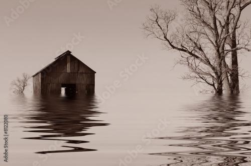 Flooded Iowa farmhouse - 8122080
