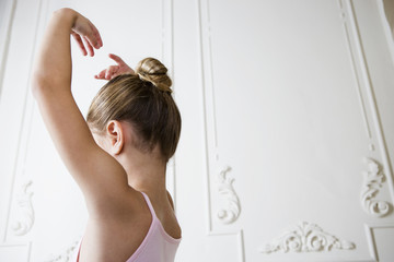 Young girl in a ballet pose