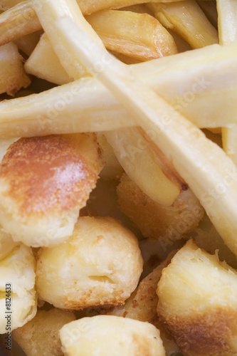 Roast potatoes and parsnips
