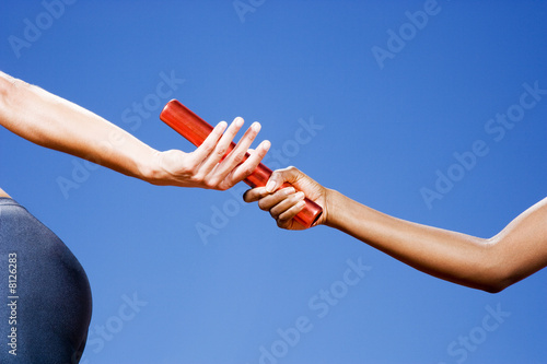 Baton passing between relay runners