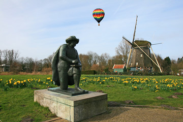 The windmill museum in the Amsterdam