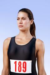Portrait of a female athlete