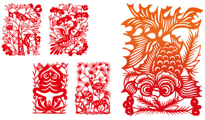 paper-cut set six